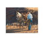 Many trails together, western artist, Mikel Donahue