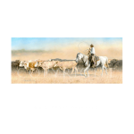 To greener pastures, western artist, Mikel Donahue