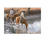 Water colors, western artist, Mikel Donahue