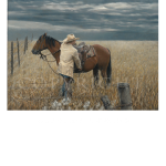 Winter's Coming, Buster, Mikel Donahue, western artist